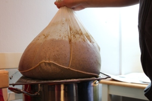 Dripping the left over wort